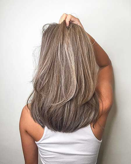 Grey, Hair, Colors, Color, Greying, Ash, Brown, Hairstyles, Bob