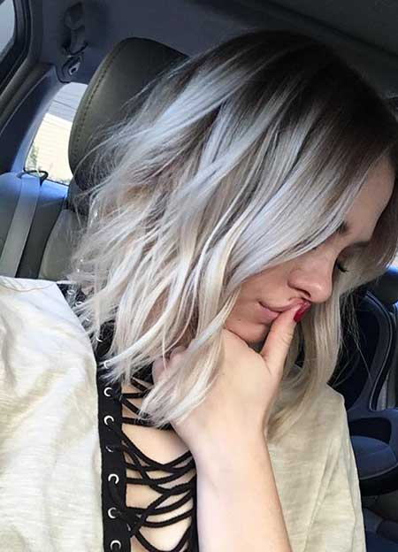 Ombre, Platinum, Blonde, Bob, Hair, Color, Ash, Hairstyles