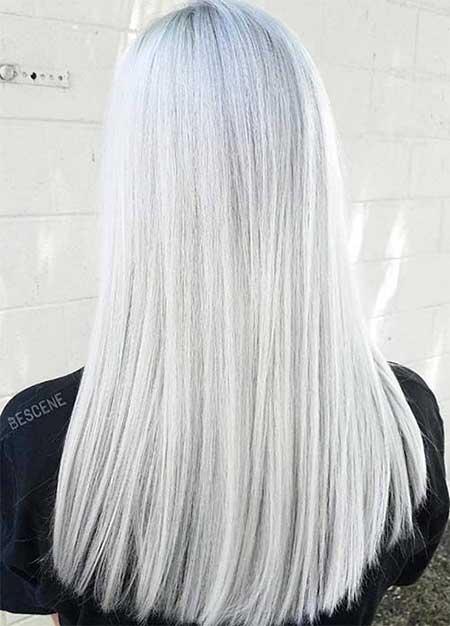 Hair, Colors, Silver, Blonde, Color, White, Platinum
