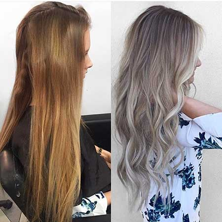 Blonde, Roots, Hair, Color, Balayage, Ombre, Hairstyles