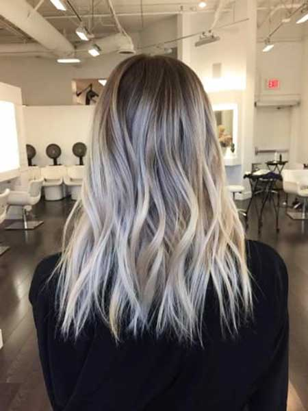 Light, Ash, Blonde, Cool, Balayage, Hair, Color, Beauty