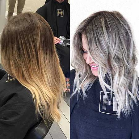 Highlights Blonde Hair Growing Balayage Ombre Color