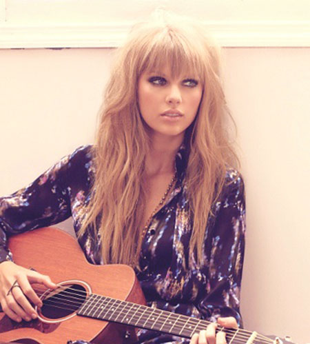 Swift Taylor Long Bangs Fringe Day Blonde