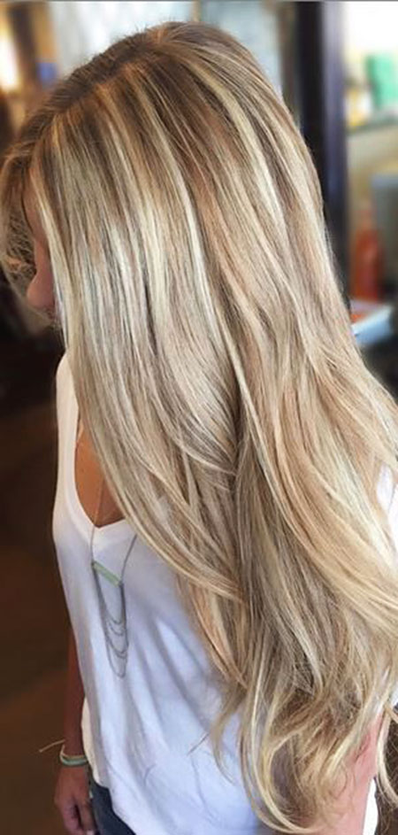 Blonde Highlights Balayage Simple Lowlights Long Light