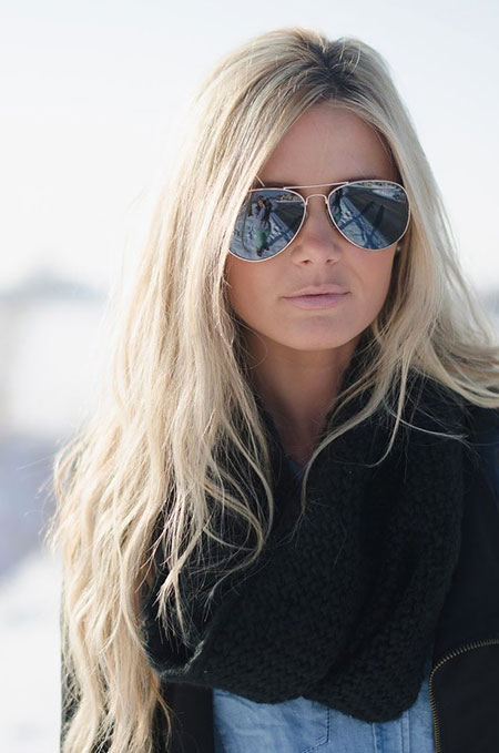Blonde, Sunglasses, Long, Years, Women, Sunnies, Ray, Eye, Ban
