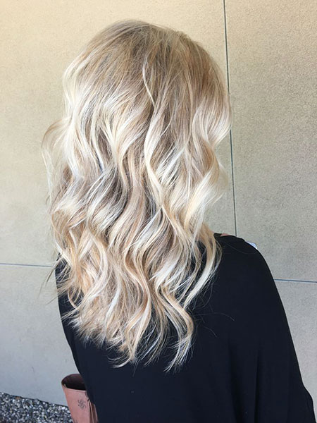 Blonde, Highlights, Bright, Balayage, Frisyrer, Ash