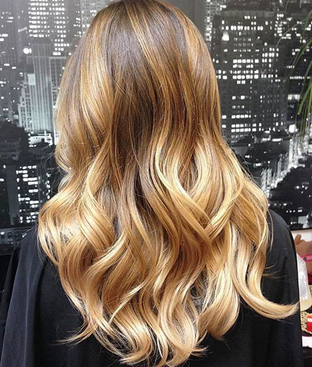 Blonde Balayage Golden Highlights Ombre Eye Ends Caramel