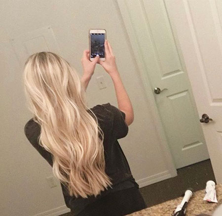 Blonde Platinum Natural Bright Wavy Pretty Ombre Long Highlights Curly