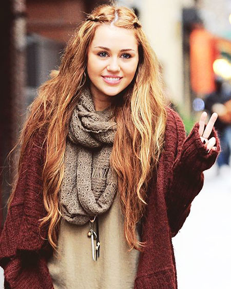 Miley, Long, Fashion, Cyrus, Winter, Scarves, Fall, Autumn