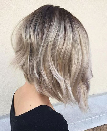 Blonde Hairstyles, Balayage, Ash, 2017, Short Hairstyles