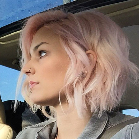 Short Hairstyles, Pink, Wavy, Long, Blonde Bob Hairstyles