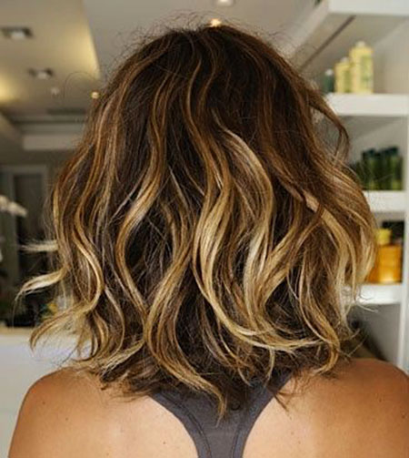 Short Hairstyles, Ombre, Wavy, Summer, Highlights, Highlighting
