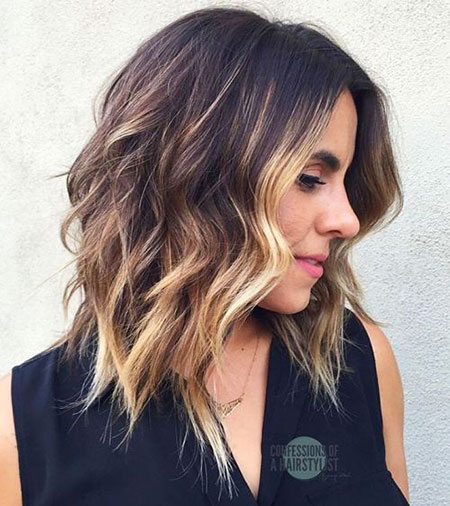 Medium, Women, Wavy, Shaggy, Highlights, Hairstyles, Bob