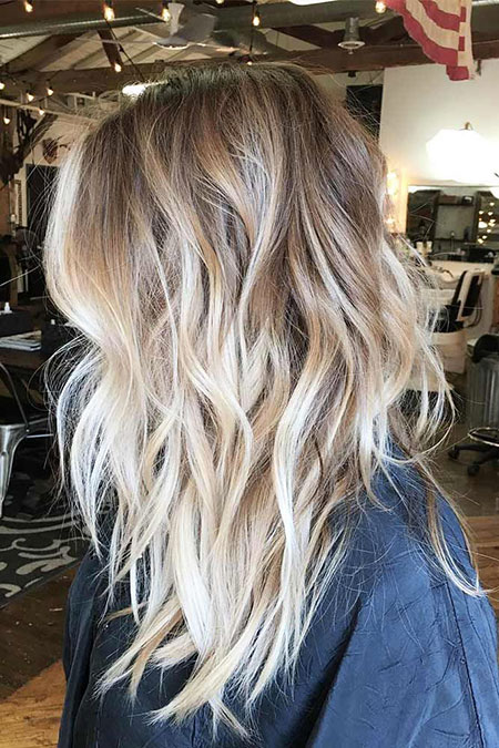 Blonde, Balayage, Woman, Types, Thick, Spring, Rock, Ombre, Medium, Long