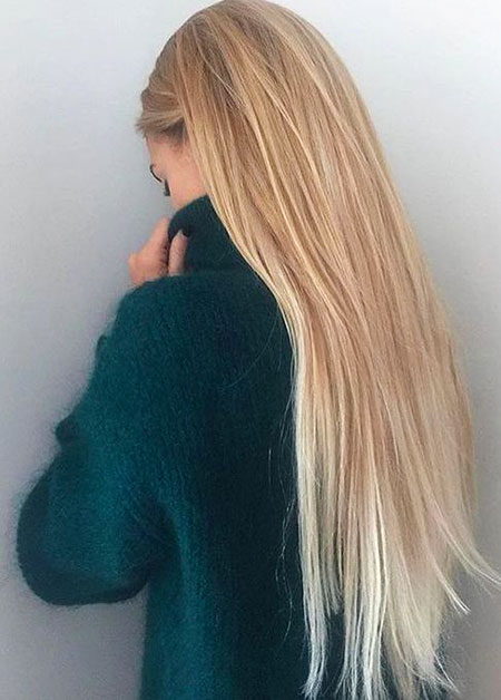Blonde, Long, Straight, Ombre, Highlights, Balayage
