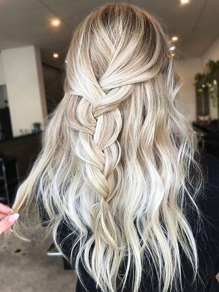 Long Blonde Balayage Hair Color Blonde Hairstyles