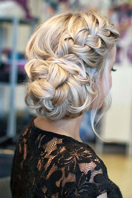 Wedding, Updo, Braided, Women, Long, Homecoming, Day