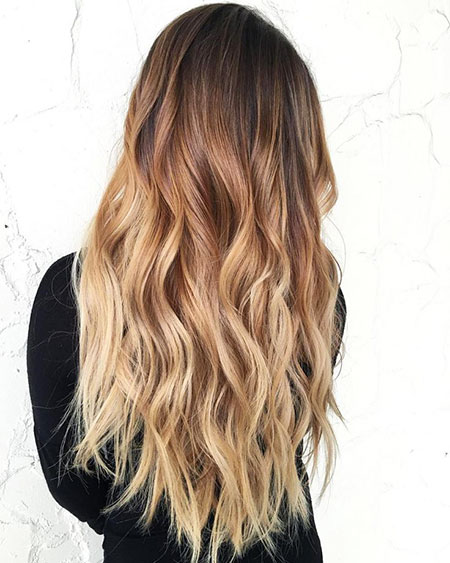 Ombre Blonde Balayage Red Brown Black Waves Wave Long