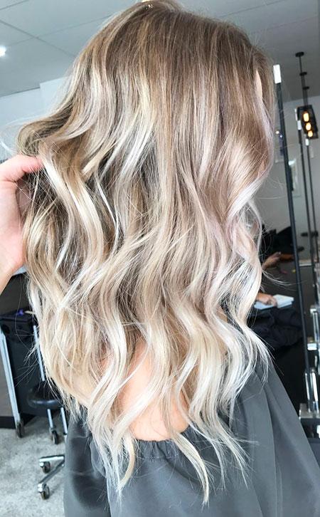 Blonde Ash Balayage Long Beige Tones Colour Brunette