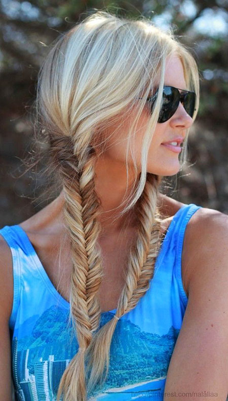 Up Two Fishtail Easy Braided Blonde Balayage