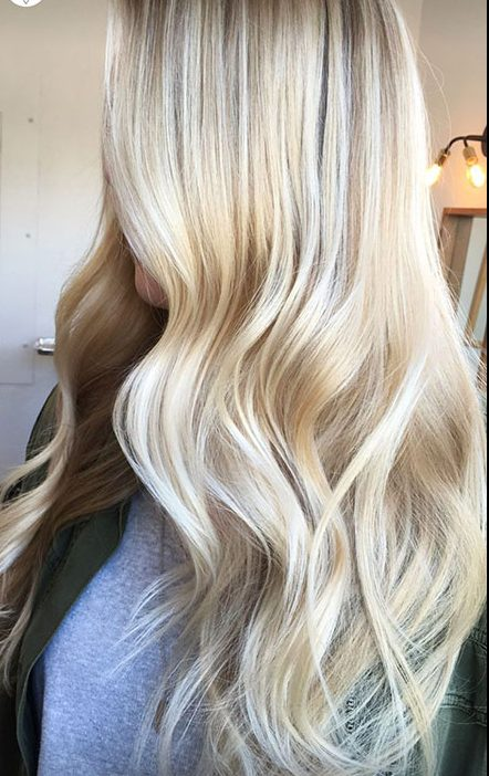 Blonde White Honey Balayage Wedding Platinum