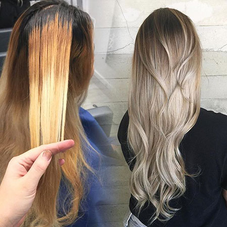 Ombre, Blonde, Silver, Balayage, Platinum, Long