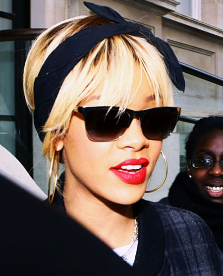 Rihanna, Sunglasses, Red, Lob, Lips, Fashion, Blonde Hairstyles