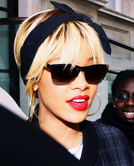 Rihanna, Sunglasses, Red, Lob, Lips, Fashion, Blonde Hairstyles