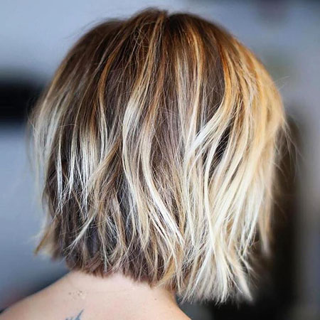 Blonde Bob Hairstyles, Balayage, Short Hairstyles, Fine