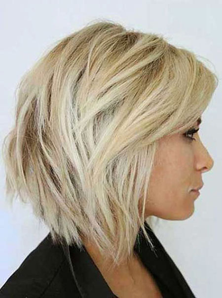 Blonde Bob Hairstyles, Short Hairstyles, Women, Layered