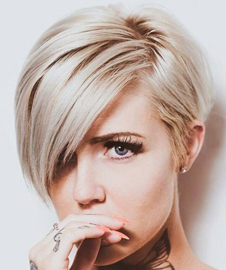 Pixie Cut, Long, Blonde Bob Hairstyles