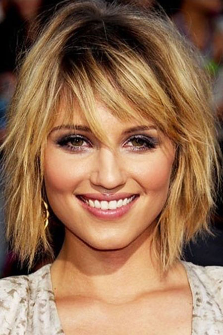 Short Hairstyles, Shoulder, Messy, Length, Dianna