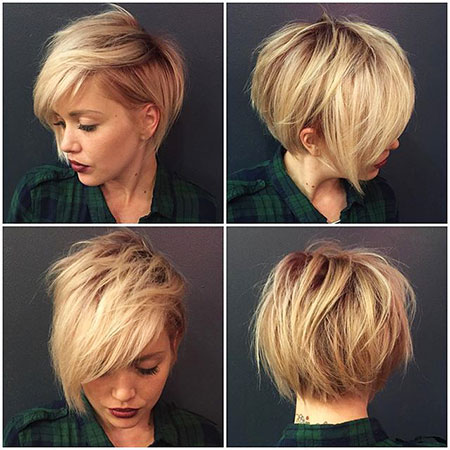 Short Hairstyles, Pixie Cut, Simple, Round, Mohawk