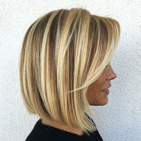 Blonde Hairstyles, Blonde Bob Hairstyles, Balayage, Toner, Side, Model