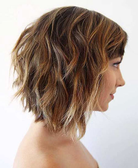 Blonde Bob Hairstyles, Short Hairstyles, Choppy, Wavy, 2017