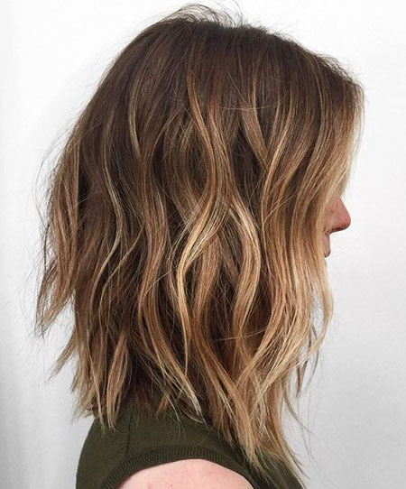 Blonde Bob Hairstyles, Balayage, Choppy, Brown, Long, Thin, Smooth