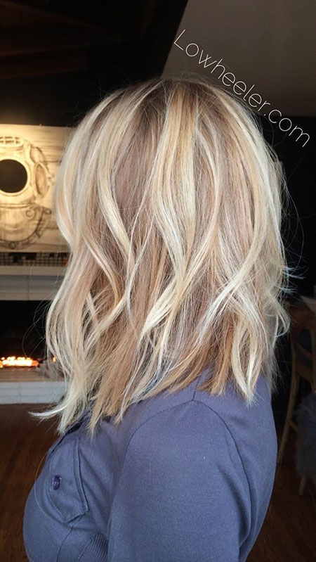 Blonde, Balayage, Long, Highlights, Bob, World, Women, Shoulder