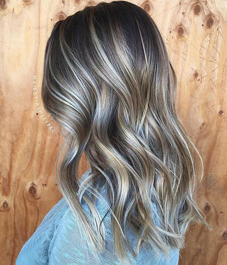 Blonde, Ash, Highlights, Balayage, Brown, Shade
