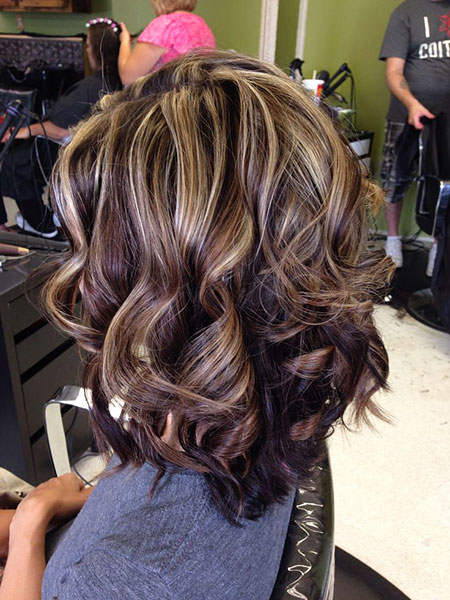 Highlights, Brown, Winter, Summer, Curls, Caramel