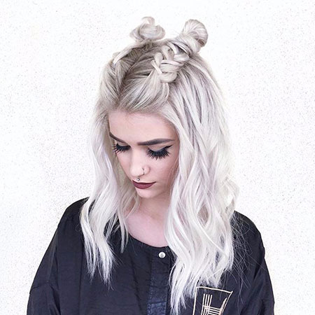 Braid, Women, Short, Medium, Buns, Blonde