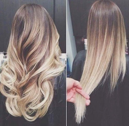 Ombre Blonde Two Straight Brunettes