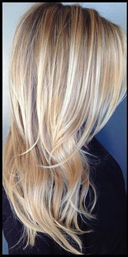 Blonde Highlights Platinum Lowlights Long
