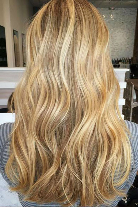 Blonde Highlights Balayage Copper Honey Caramel