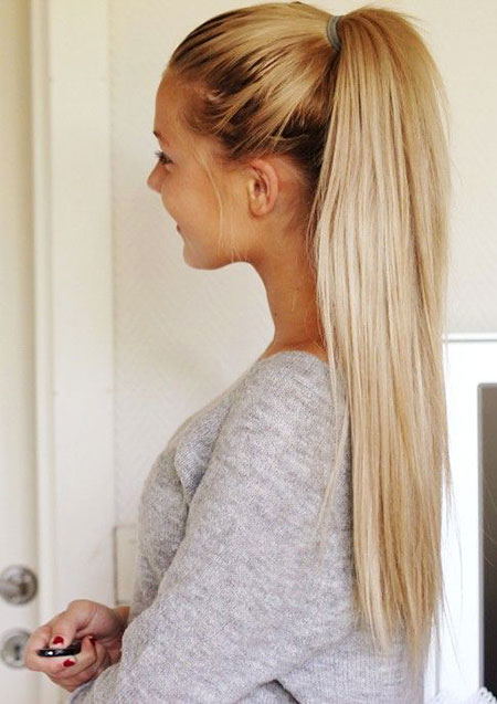 Ponytail Ombre Blonde Up Teen Quick Pink Pastel Long