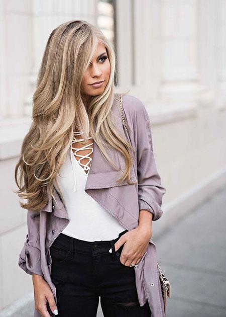 Fashion Blonde White Fall Black Artist