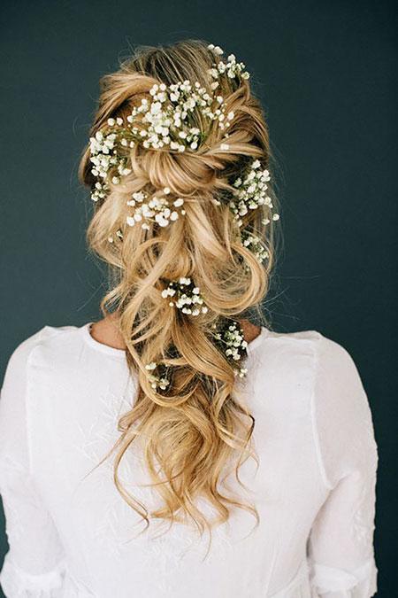 Wedding, Bridal, Updos, Updo, Ulyana, Long, Flowers, Brides