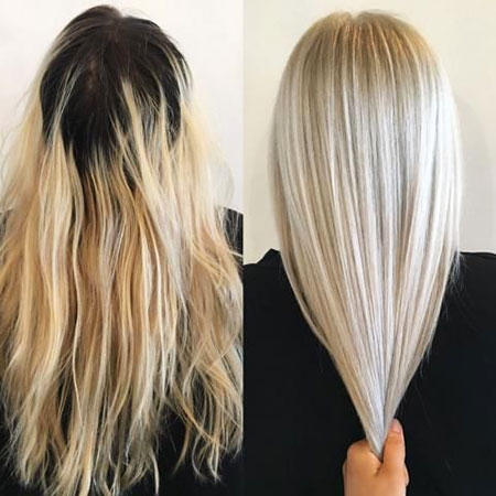 Blonde Long Ice Highlights Layering Layered Blondes