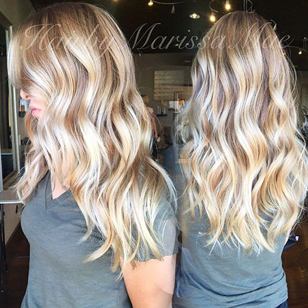 Blonde, Highlights, Balayage, Work, Waves, Bright, Beach