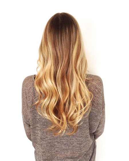 Blonde Balayage Ombre Wave Soft Natural Loose Long