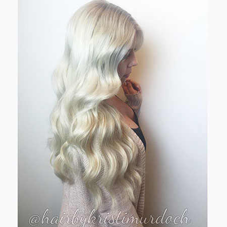 Blonde, Long, İcy, İce, Curls, White, Waves, Tone, Soft, Shades